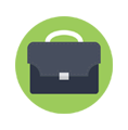 Icon of a briefcase